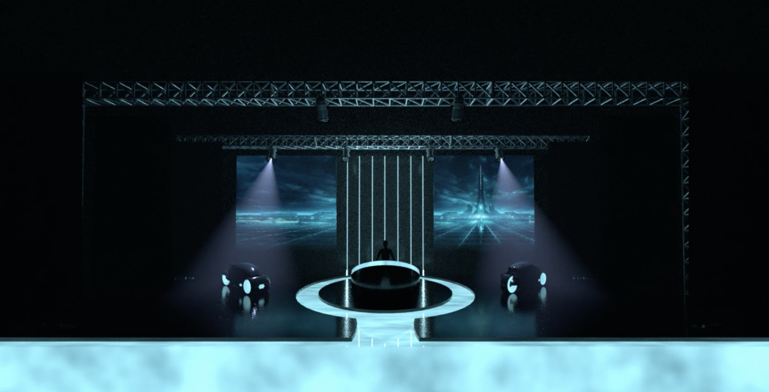 Stage Design: TRON Legacy Live Show
